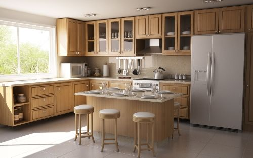 L Shaped Kitchen Design Ideas With Island And Pantry Creative